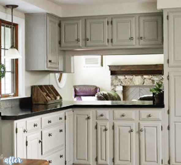 Gray Kitchen with Dark Countertops