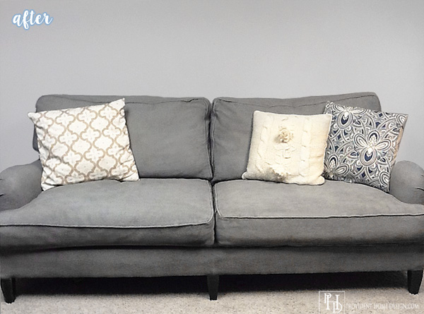 Gray Painted Couch