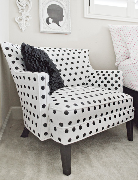 polka dot painted chair