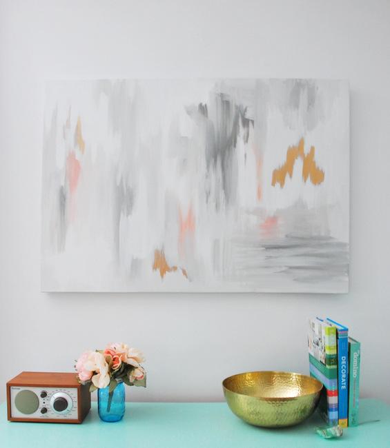 DIY Abstract Artwork