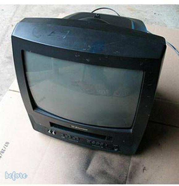 TV Jack O'Lantern Before
