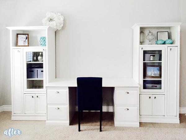 White Desk Unit