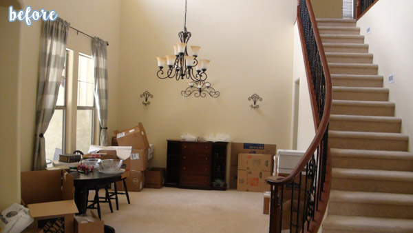 White Hutch with Formal Dining Room Before2