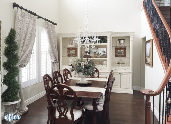 White Hutch with Formal Dining Room