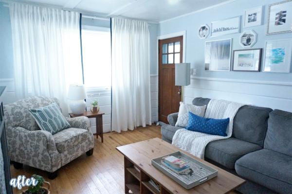 blue cape cod living room