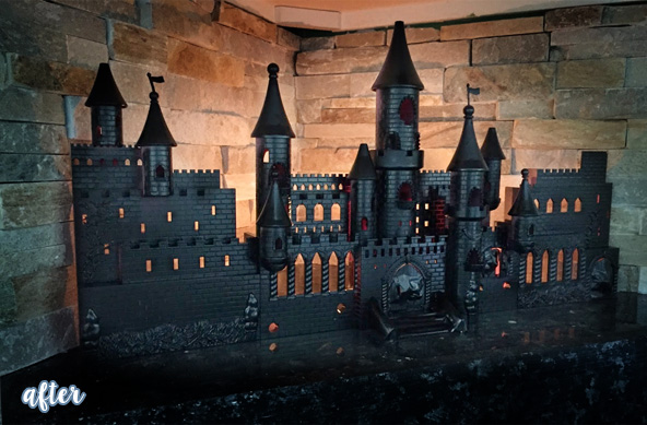 halloween castle after