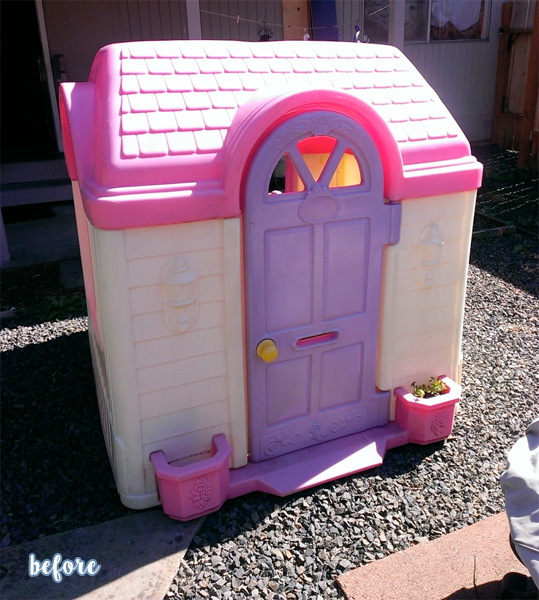 haunted little tikes playhouse before