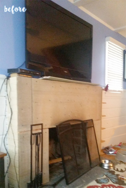 mantle makeover before