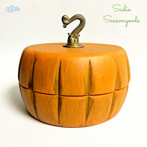 pumpkin trinket box after