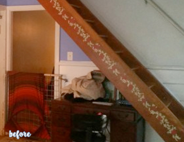 stair makeover before