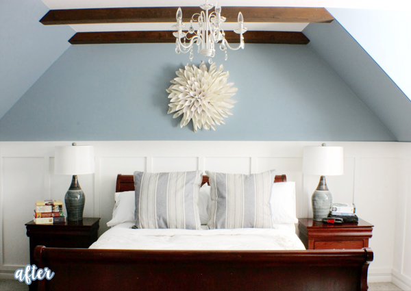 Blue and Beams Bedroom