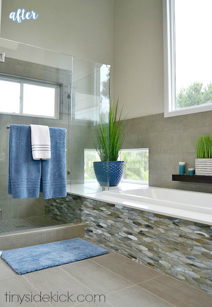 Dark Wood and Tile Bathroom 1