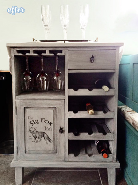Foxy Wine Cabinet After