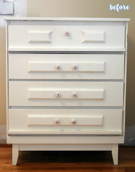 Gray Dresser and Elephant Pulls Before