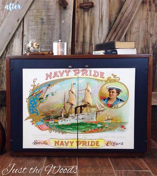 Navy Pride Cabinet