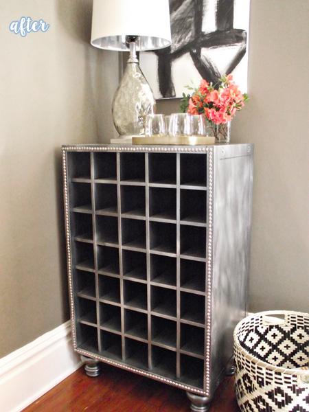 Silver Wine Cabinet Makeover
