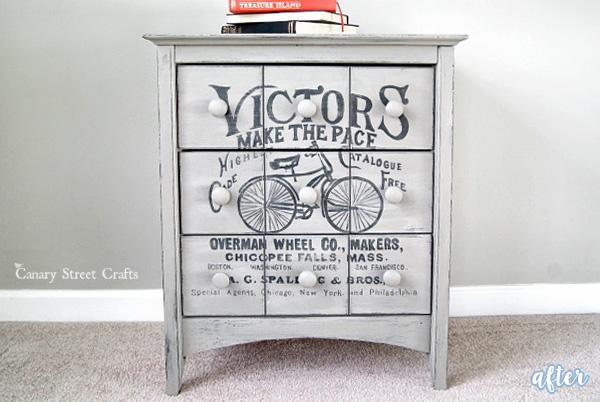 Vintage Bicycle Side Table