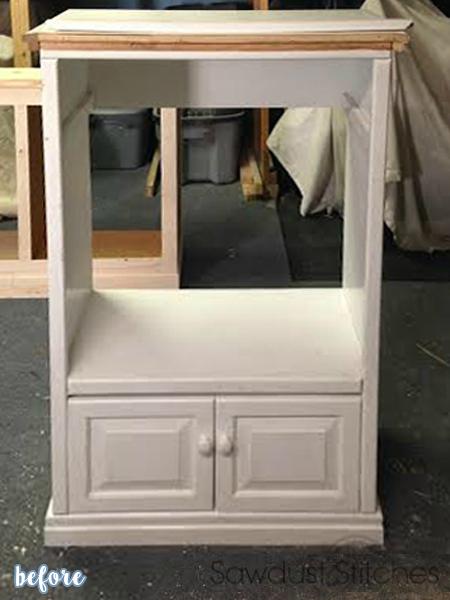 White Storage Locker Before