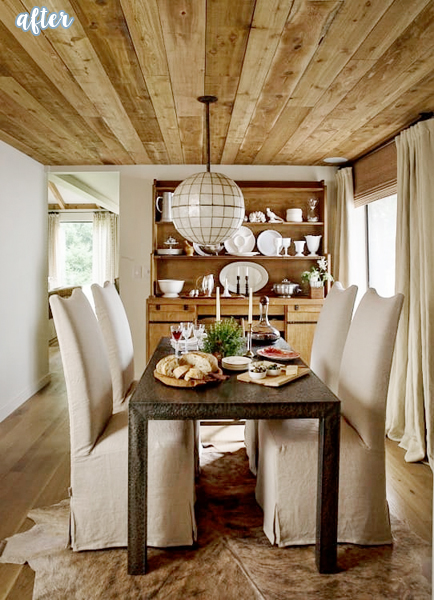 Planked Ceiling Dining Room