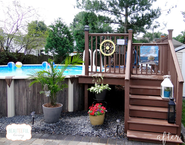 Too cool for pool better after for Backyard makeover with pool