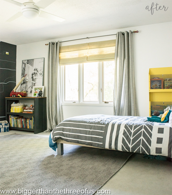 little boy modern and bright bedroom makeover - after