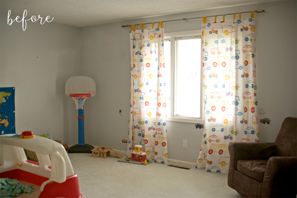 little boy modern bedroom makeover - before