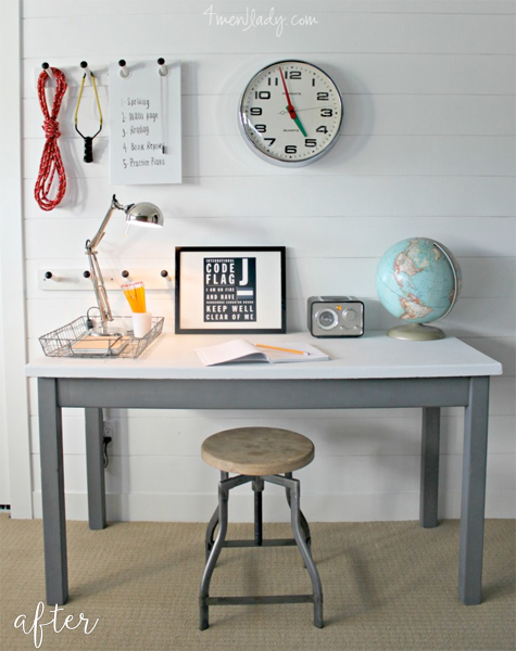 school science table makeover