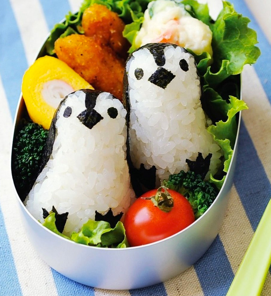 penguin rice mold