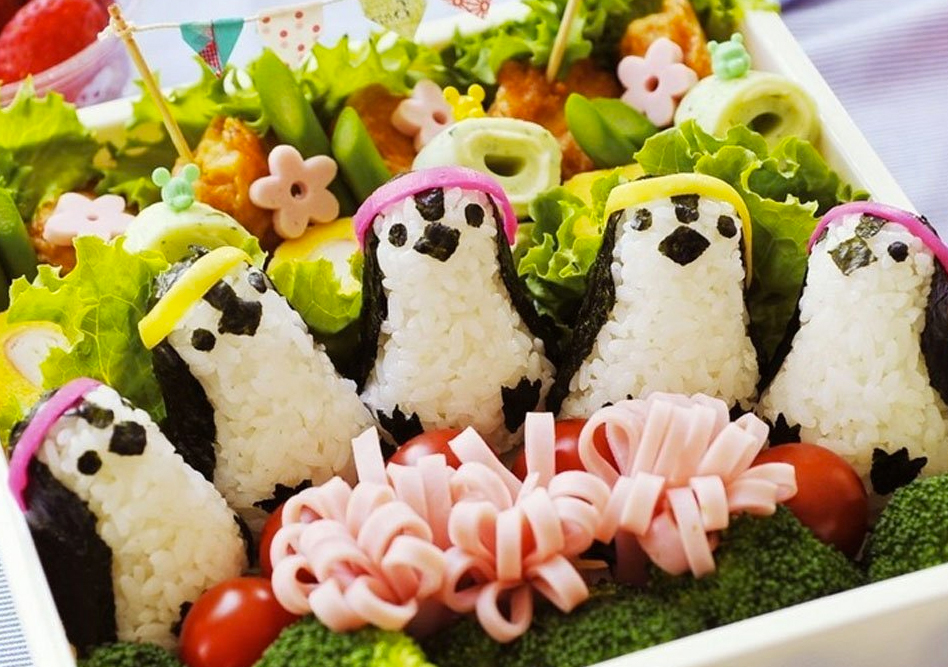 penguin rice molds