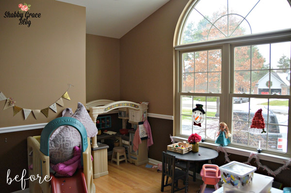 Bright and Fun PlayRoom makeover Before