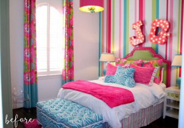 Pretty in polka dots better after for Cute bedroom ideas for 10 year olds