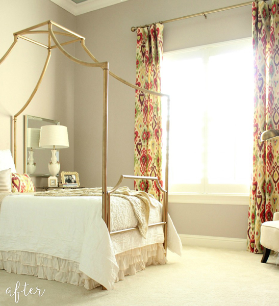 Gold Victorian Boho Bedroom