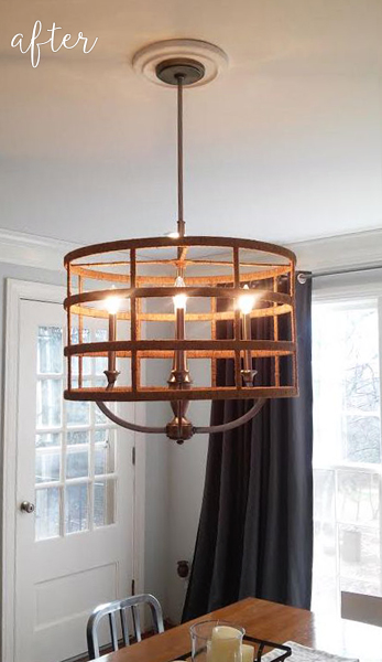 Jute Drum Shade Chandelier