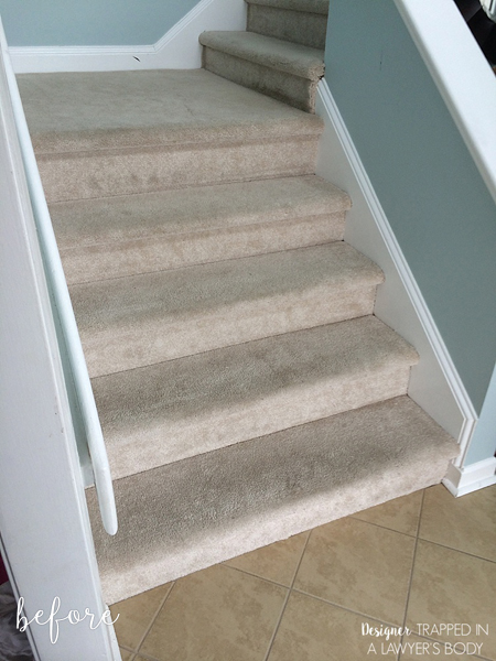 Numbered Staircase Before