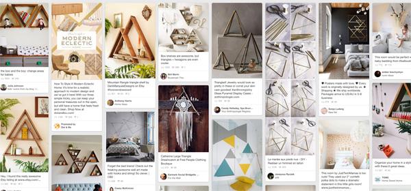 triangle decor on pinterest