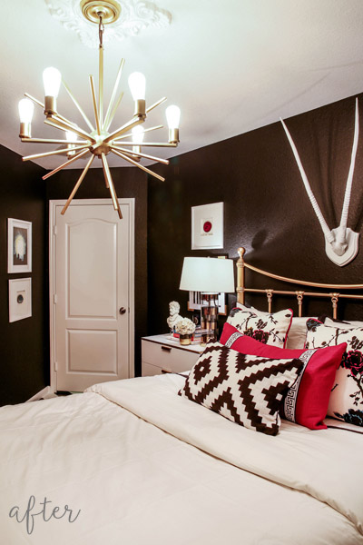 Black and Fuchsia Guest Bedroom