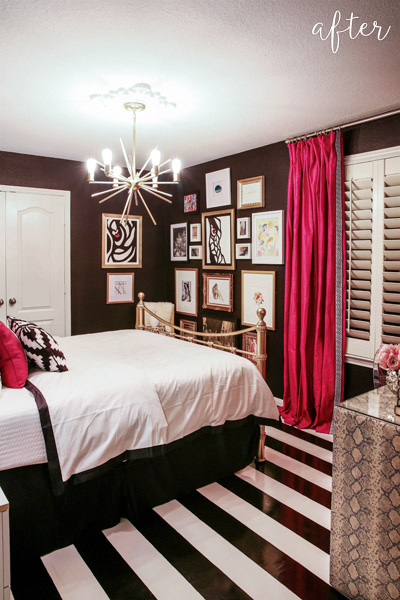 Black and Fuchsia Guest Bedroom 1