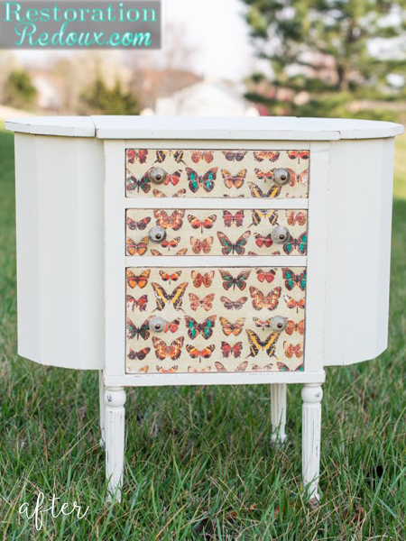 Butterfly Sewing Cabinet