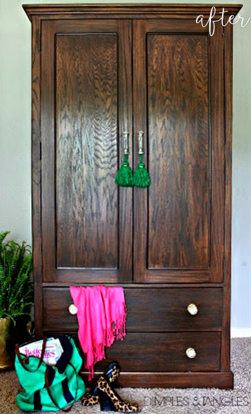 Wood Stained Armoire