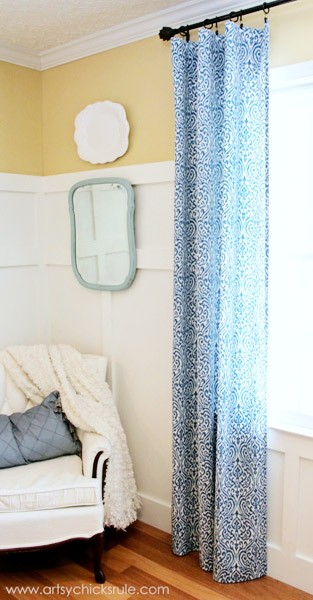 ikat fabric diy curtains
