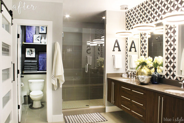 Graphic Glam Bathroom