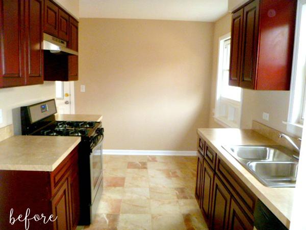 White Kitchen Before