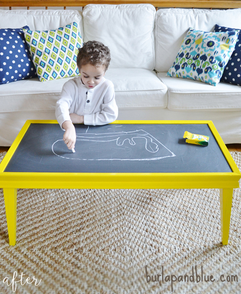 Yellow Chalkboard Coffee Table