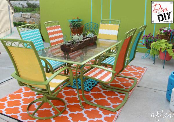 Colorful Patio Set