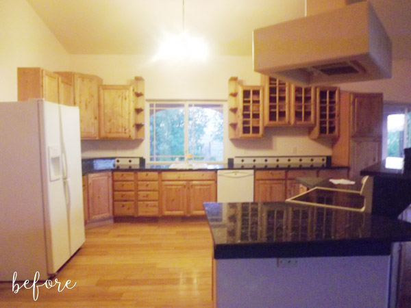 Dark Wood Kitchen Before rustic kitchen makeover before