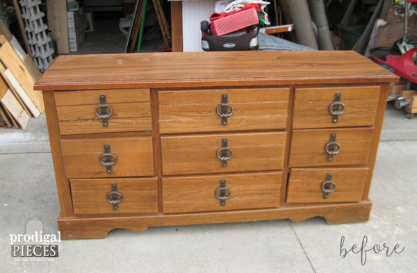 Vintage Dresser with Numbers Before