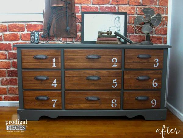 Vintage Dresser with Numbers