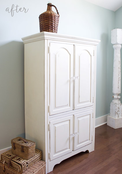 White Chalk Painted Armoire