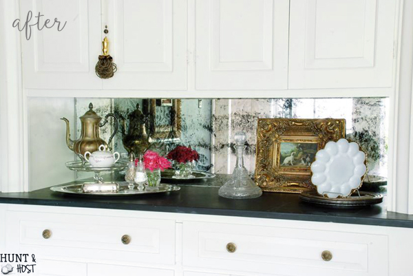 Damask Antique Mirror