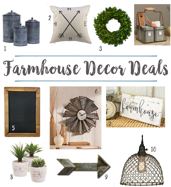 Farmhouse decor deals under 50 better after for Home decor offers